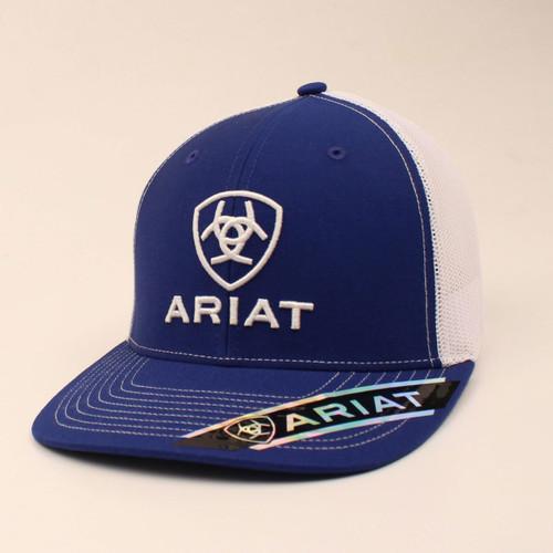 ARIAT LOGO BLUE WHITE - HATS CAP   - A300005227