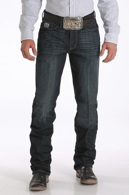 CINCH SILVER PERFORMANCE DARK RINSE - MENS JEANS   - MB98034007