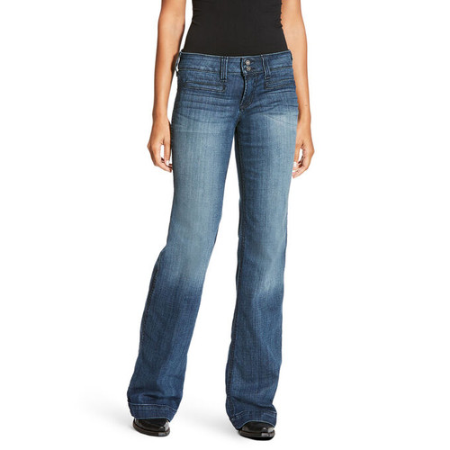 ARIAT TROUSER MID RISE STRETCH JEAN - LADIES JEANS   - 10018360