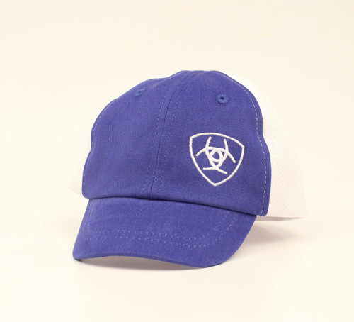 ARIAT INFANT BABY LOGO BLUE WHITE - HATS CAP   - A300008227