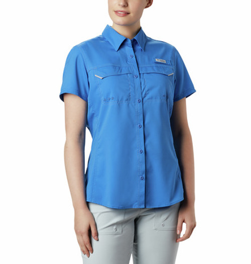 COLUMBIA LADIES LO DRAG STORMY BLUE - LADIES SHIRT   - 1655821426