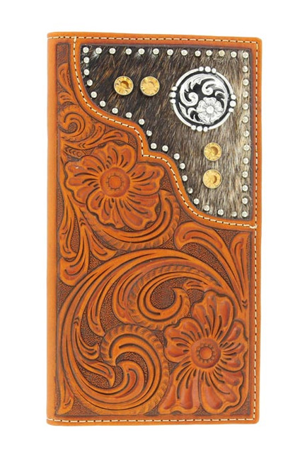 NOCONA TOOLED CALF HAIR AMBER RODEO - ACCESSORIES WALLET   - N5426008