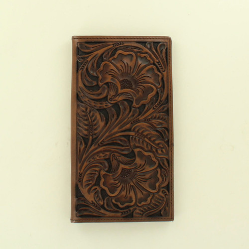 ARIAT EMBOSSED FLORAL DESIGN WALLET - ACCESSORIES WALLET   - A3532802