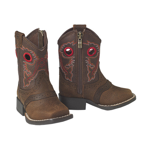 ARIAT LIL' STOMPERS ROUGHSTOCK BROWN - BOOT KIDS BOYS - A441000402