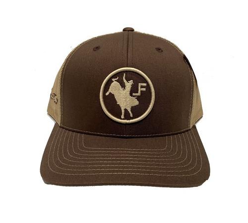 LANE FROST BROWN BROCO CIRCLE - HATS CAP   - COMEBACK