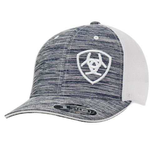 ARIAT GREY HEATHER OFFSET LOGO CAP - HATS CAP   - 1504905