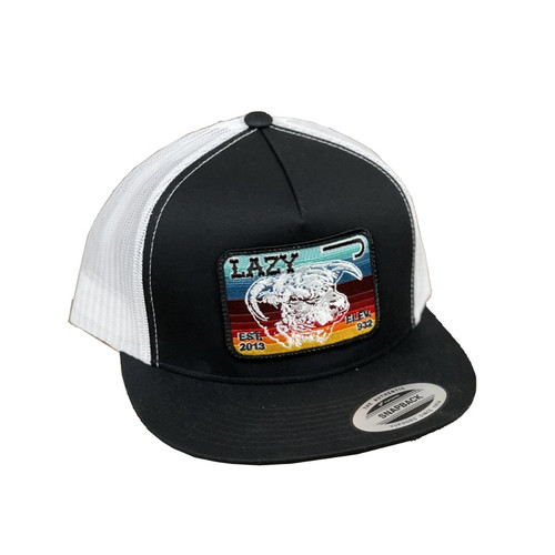 LAZY J SERAPE ELEVATION PATCH BLK/WHT - HATS CAP   - BLKWHT4SV