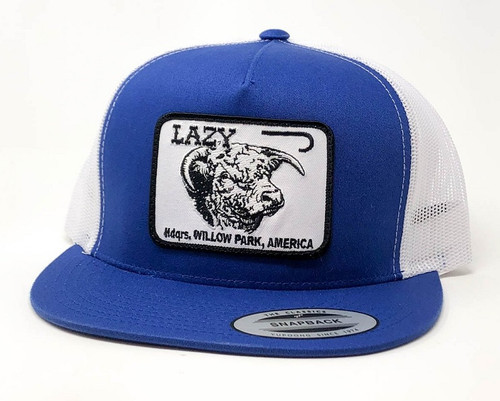 LAZY J HEADQUARTERS - HATS CAP   - BLUEWHT4WILLOW