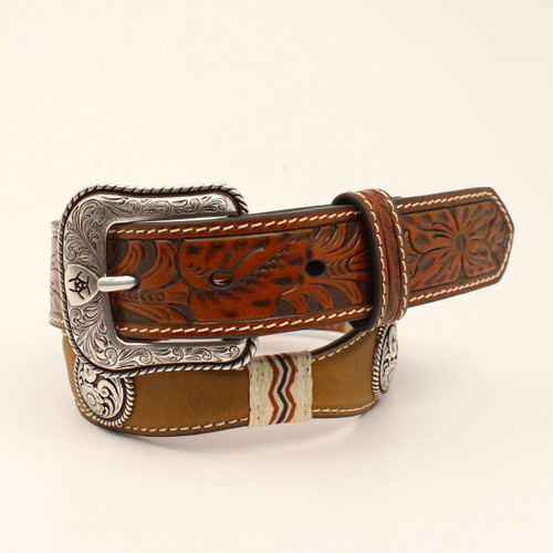 ARIAT SCALLOPED EMBOSSED TABS - ACCESSORIES BELT KIDS - A1306644
