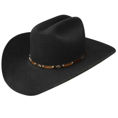 "RESISTOL BLACK ROCK 6X 4 1/4"" BRIM - HAT FELTS   - RFBLKR-524207"