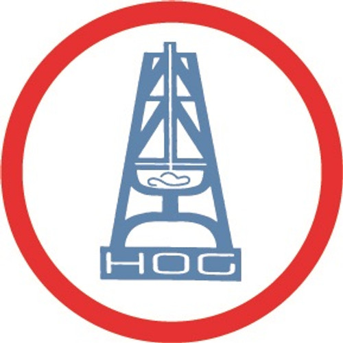 HOG LIFE HOG BLUE RED CIRCLE STICKER - ACCESSORIES OTHER   - ST3001RDBL