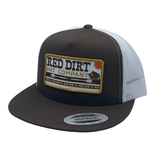 RED DIRT ARROWS – BROWN  WHITE - HATS CAP   - RDHC165