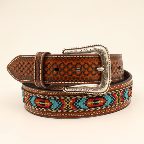NOCONA MULTI COLORED RIBBON INLAY - ACCESSORIES BELT MEN - N210002102