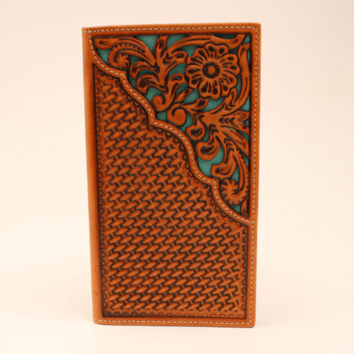 NOCONA TURQUOISE UNDERLAY FLORAL - ACCESSORIES WALLET   - N500002633
