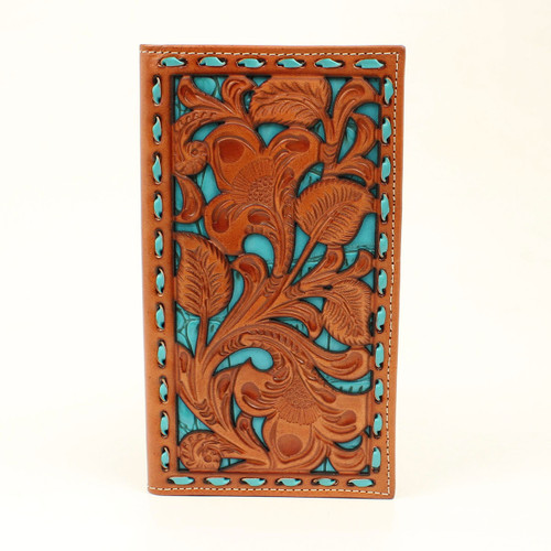 NOCONA TURQUOISE FLORAL PIERCED - ACCESSORIES WALLET   - N5417933