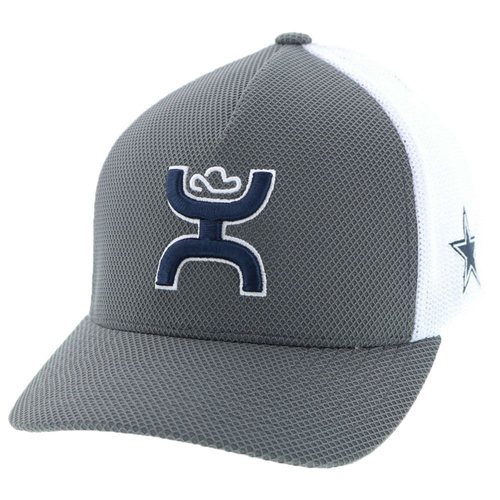 HOOEY DALLAS COWBOYS FLEX GREY WHITE - HATS CAP   - 7002GYWH