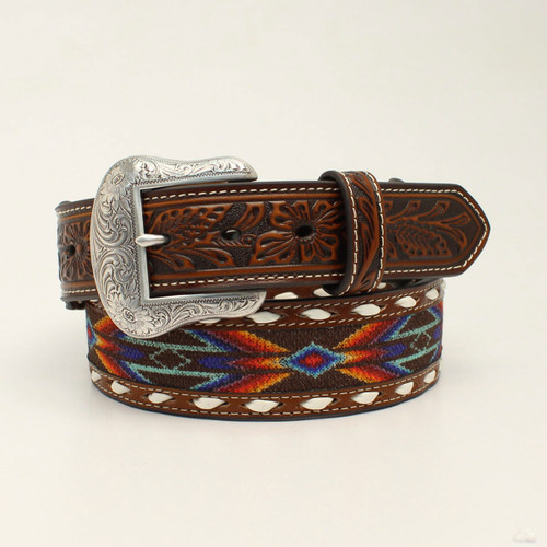 NOCONA MULTI COLORED RIBBON BUCK LACE - ACCESSORIES BELT MEN - N210002697