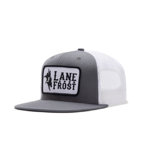 LANE FROST CHARCOAL WHITE BRONCO PATCH - HATS CAP   - GANGSTER