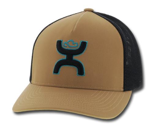 HOOEY COACH TAN BLACK & TURQUIOSE - HATS CAP   - 2012TNBK
