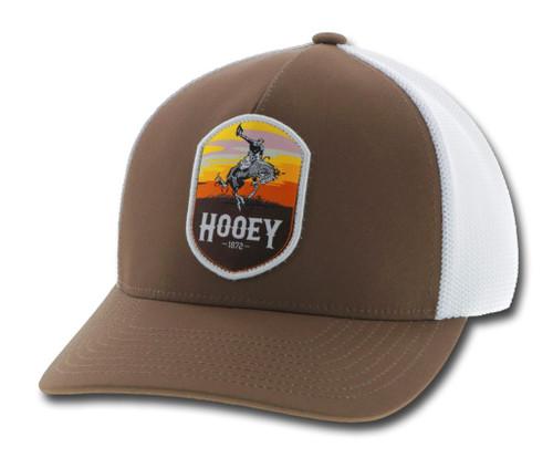 HOOEY CHEYENNE BROWN WHITE 5 PANEL - HATS CAP   - 2044BRWH