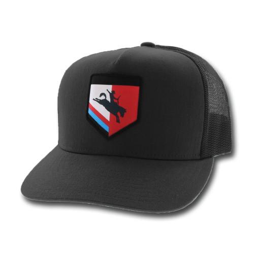 HOOEY TIBBS ROUGHY BLACK GREY - HATS CAP   - 4036T-BKGY