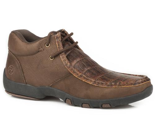 ROPER CHUKKA BROWN LEATHER EMBOSSED - FOOTWEAR MEN'S   - 09-020-1780-2090BR