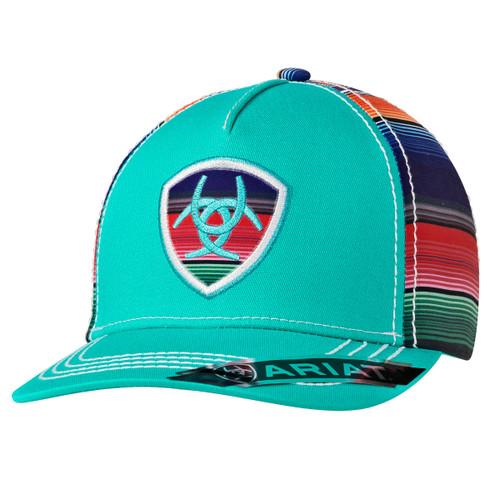 ARIAT LADIES SERAPE PATCH TURQUOISE - HATS CAP   - 1507933