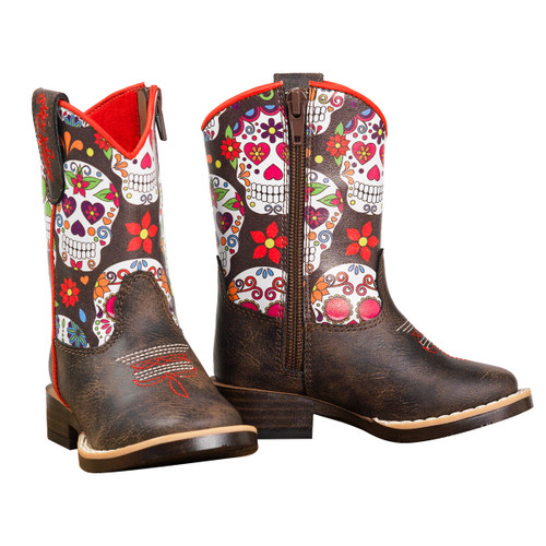 BLAZZIN ROXX DESTINEY SKULLS BLACK - BOOT KIDS GIRLS - 4419602