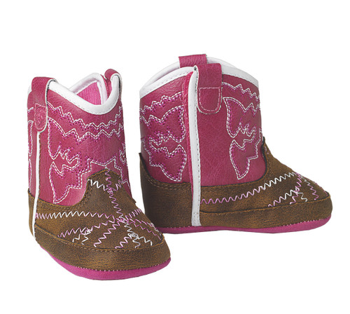 ARIAT LIL STOMPER INFANT PINK BOOTS - FOOTWEAR KIDS   - A442000302