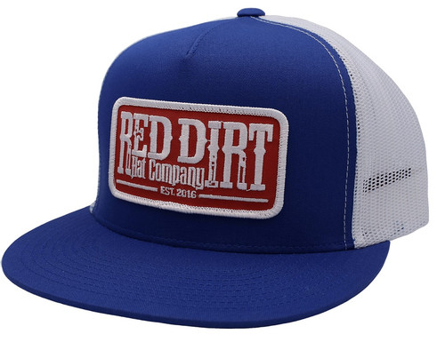 RED DIRT RED PATCH ROYAL BLUE - HATS CAP   - RDHC156