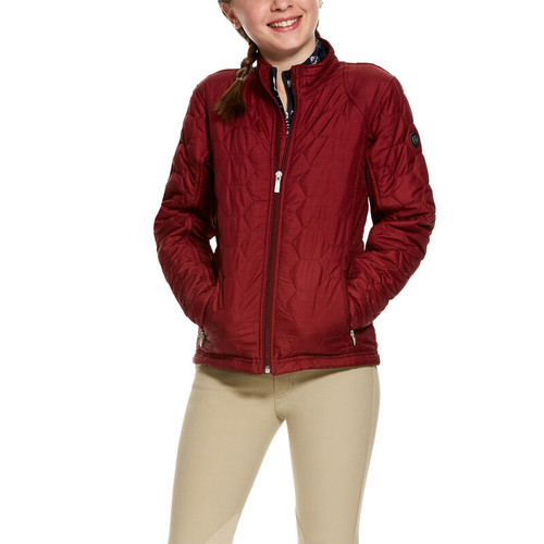 ARIAT VOLT HEATHER MAROON - KIDS GIRLS JACKET - 10028362