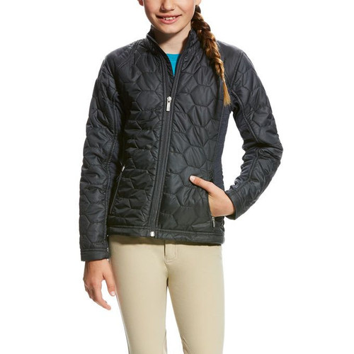 ARIAT VOLT GRAPHITE GREY - KIDS GIRLS JACKET - 10023536