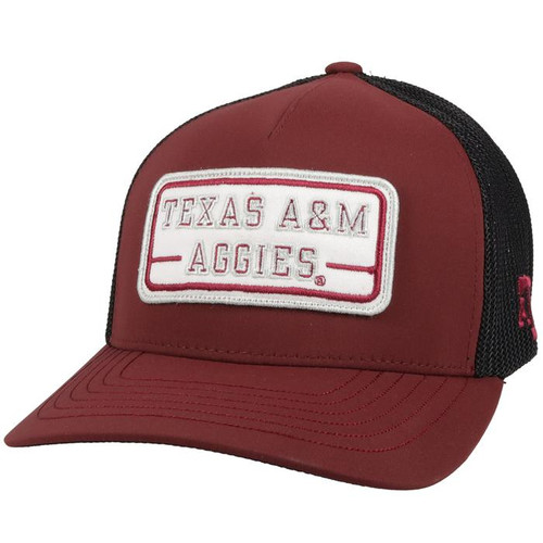 HOOEY TEXAS A&M PATCH MAROON BLACK - HATS CAP   - 7077MABK