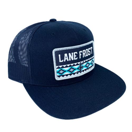 LANE FROST BLACK AZTEC PRINT PATCH - HATS CAP   - HUSTLER