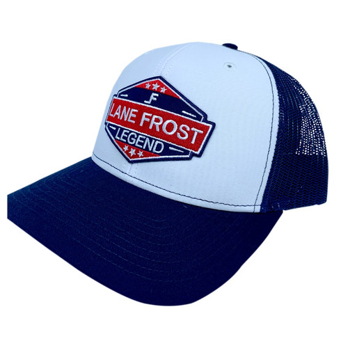 LANE FROST LEGEND PATCH BLUE WHITE - HATS CAP   - RANGER