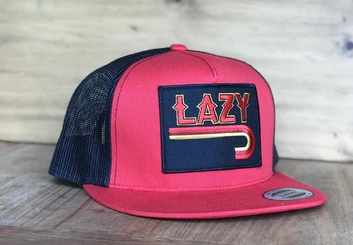 LAZY J FIRE J BLACK RED - HATS CAP   - REDBLK4FJ