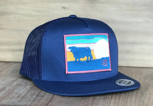 LAZY J HEREFORD NAVY SKY - HATS CAP   - NAVY4SKY