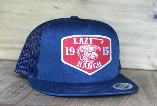 LAZY J 1915 RED RANCH PATCH NAVY - HATS CAP   - NAVY4RR