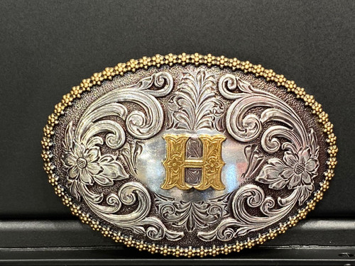 NOCONA OVAL INITIAL BUCKLE H - ACC BUCKLE   - 37072-H
