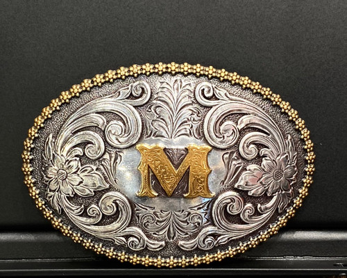NOCONA OVAL INITIAL BUCKLE M - ACC BUCKLE   - 37072-M