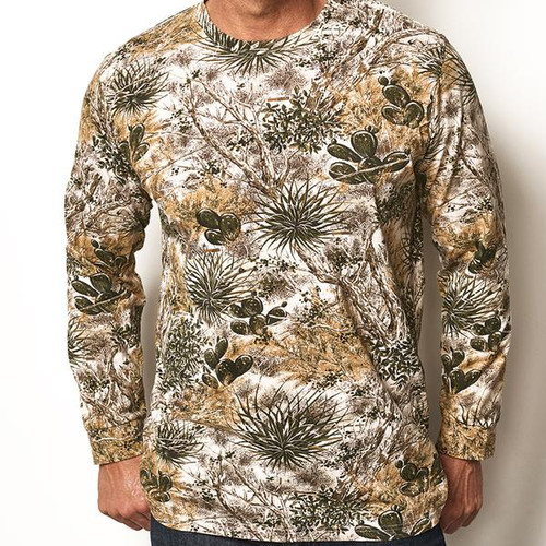 GAMEGUARD DESERT CAMO L/S COTTON TEE - MENS SHIRT   - 1010GGC