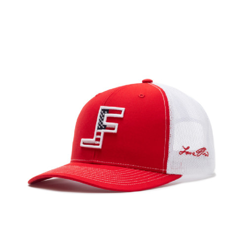 LANE FROST AMERICAN FLAG LOGO RED WHIITE - HATS CAP   - VALOR