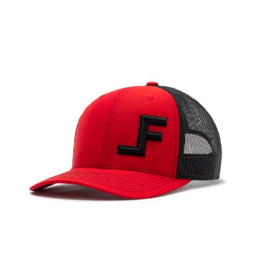 LANE FROST BLACK LOGO RED BLACK MESH - HATS CAP   - REDROCK