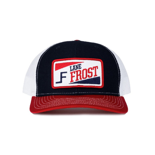LANE FROST RED WHITE BLUE PATCH - HATS CAP   - TRUCKIN