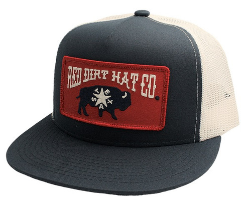 RED DIRT REPUBLIC OF TEXAS NAVY WHITE - HATS CAP   - RDHC133