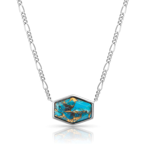 MONTANA SILVERSMITHS FEARLESS TURQUOISE NECKLACE - ACCESSORIES JEWELRY NECKLACE - SLNC056