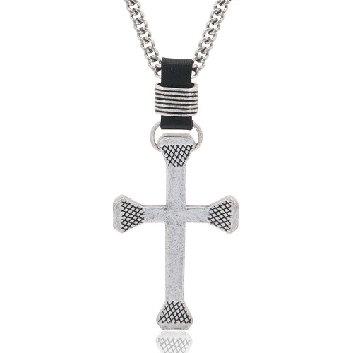 MONTANA SILVERSMITHS RUGGED CROSS HORSESHOE NAIL - ACCESSORIES JEWELRY NECKLACE - NC61509