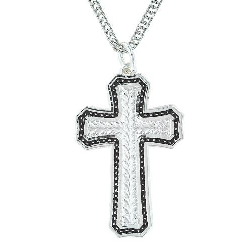 MONTANA SILVERSMITHS PINPOINTS AND WHEAT CROSS - ACCESSORIES JEWELRY NECKLACE - NC3110