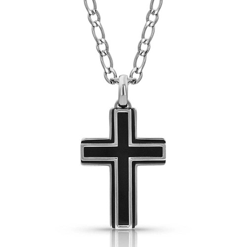 MONTANA SILVERSMITHS BOLDLY IN FAITH CROSS NECKLACE - ACCESSORIES JEWELRY NECKLACE - NC3577