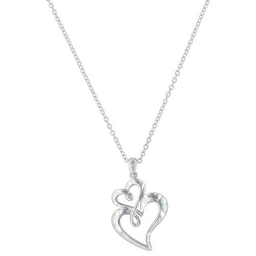 MONTANA SILVERSMITHS INFINITE LOVE HEART SILVER - ACCESSORIES JEWELRY NECKLACE - NC3309